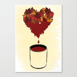 Only Love Is All Maroon Canvas Print