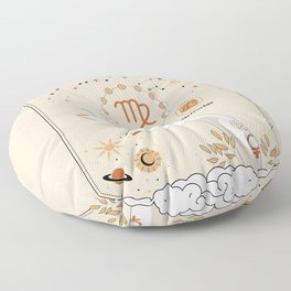 Virgo Zodiac Theme Floor Pillow