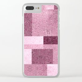 Pink Squared Clear iPhone Case