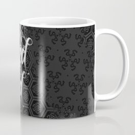wicked mind and a vintage snake. Vintage gothic pattern. Coffee Mug