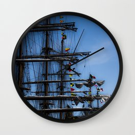 Tall ships Wall Clock