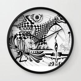 Falling In Wall Clock