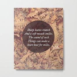 Sharp Leaves Metal Print