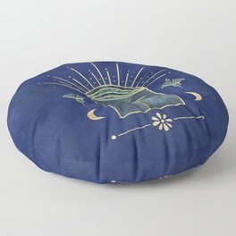 Palm Tree Oriental Moon Magical Moment Floor Pillow