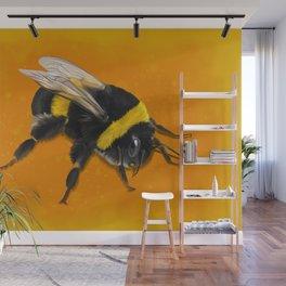 Fuzzy Bumblebee Wall Mural