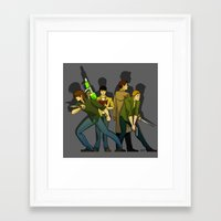 supernatural Framed Art Prints featuring Supernatural by Justyna Rerak