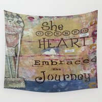 journey Wall Tapestries featuring Journey  by drskippyart