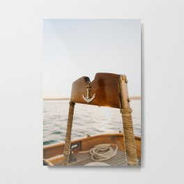 At The Helm Metal Print