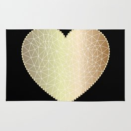Low poly heart 1 Rug