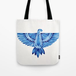 Navy Parrot Tote Bag
