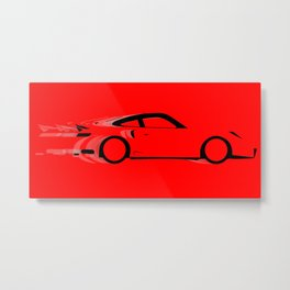 Fast Red Car Metal Print