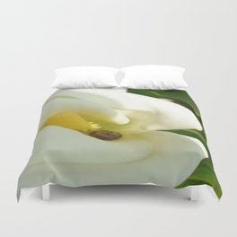 Beautiful Calla Flower On Green Natural Background Duvet Cover