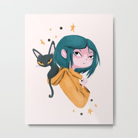 Twitchy, Witchy Girl Metal Print