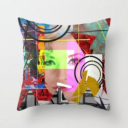 Don't Hide Behind Layers - Be Yourself Throw Pillow