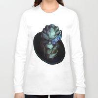 garrus Long Sleeve T-shirts featuring Mass Effect: Garrus Vakarian by Ruthie Hammerschlag