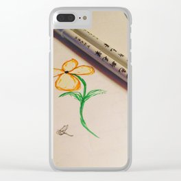Little Flower Clear iPhone Case