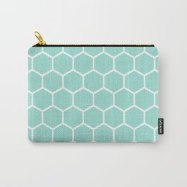 Menthol green honeycomb pattern Carry-All Pouch