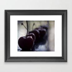 cherries row Framed Art Print
