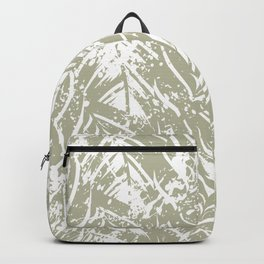 Jungle print with silhouette of paradise island foliage Backpack