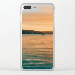 Sunset By Boat Clear iPhone Case