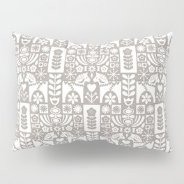 Swedish Folk Art - Warm Gray Pillow Sham