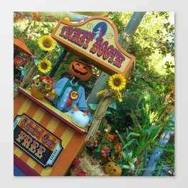 Halloween Ticket Booth Canvas Print