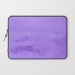 Lilac Fog Surrounding Anchorage Mountains Laptop Sleeve
