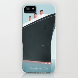 Vintage Travel Poster - Cruise Ship iPhone Case
