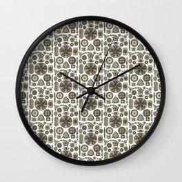 Ernst Haeckel Diatoms in Vintage Brown Wall Clock