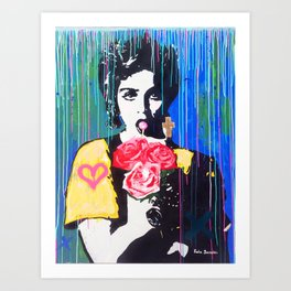 Whos that girl Art Print