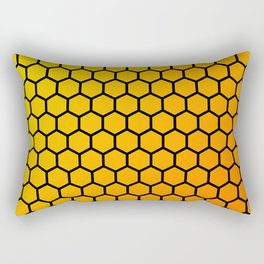 Yellow and orange honeycomb pattern Rectangular Pillow