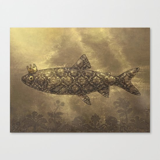 King of the Pond  Canvas Print