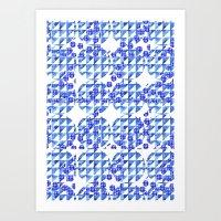 triangle dots Art Print