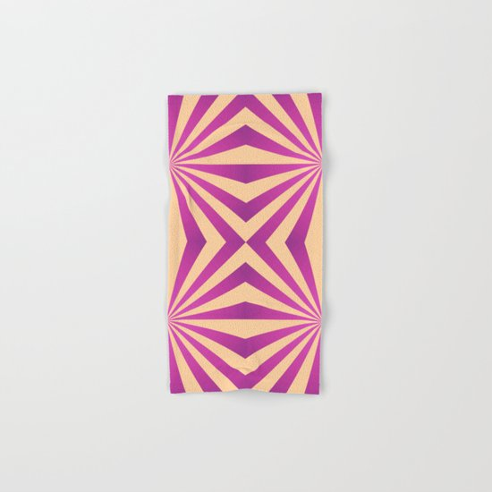 Purple and pale yellow - Geometric game Hand & Bath Towel