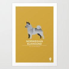 Norwegian Elkhound Art Print