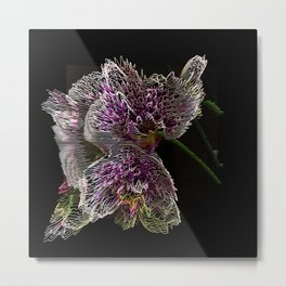 Orchid Line Metal Print