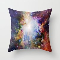 nebula Throw Pillows featuring NEBulA by 2sweet4words Designs