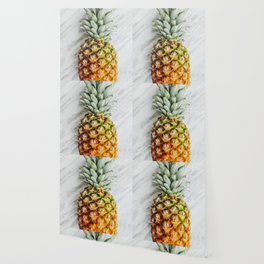 Pineapple on Marble Wallpaper
