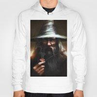 gandalf Hoodies featuring Gandalf the Grey by Fabio Leone