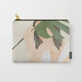 Under the Monstera Leaf Carry-All Pouch