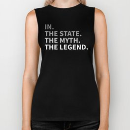 Indiana The State The Myth The Legend Biker Tank