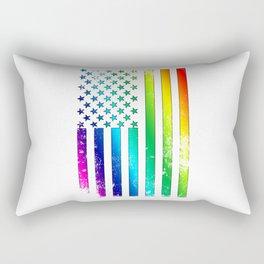 LGBT - Lesbian Gay Bisexual Transgender US Flag Support Homosexual Rectangular Pillow