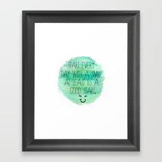 Start With a Smile Framed Art Print
