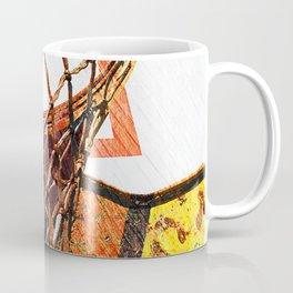 Basketball Hoop on Baskeball Art Coffee Mug