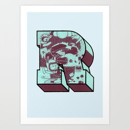 "illustrated ""R"" Art Print"
