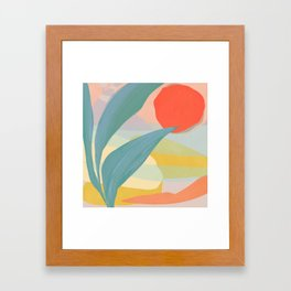 Shapes and Layers no.33 Framed Art Print