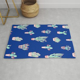 Little cactus pattern - Princess Blue Rug