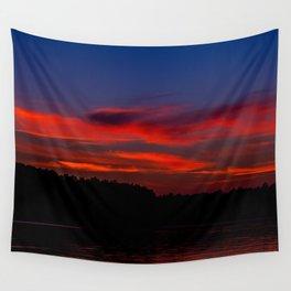 Sunset At The Lake Wall Tapestry