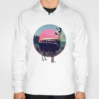 tapestry Hoodies featuring Llama by Ali GULEC