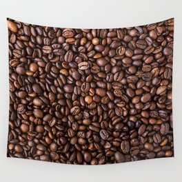 Coffee Bean Scene Wall Tapestry